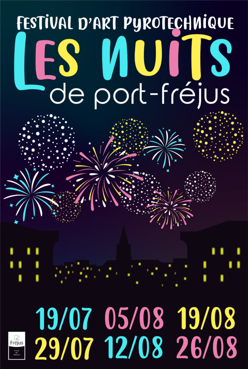 "Les nuits de Port Fréjus ""Feu d'artifice"" 19 juillet"