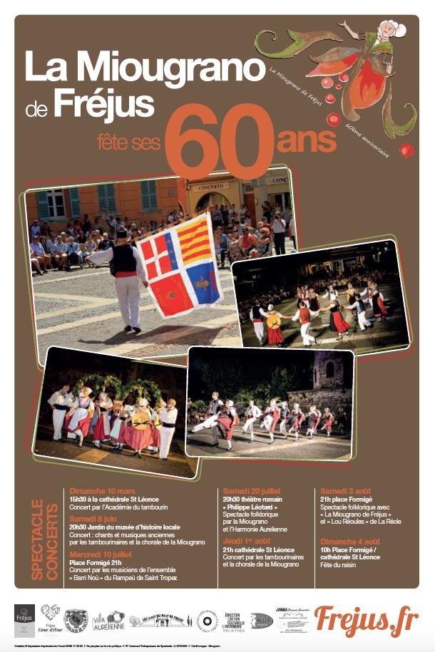 Spectacle folklorique par la Miougrano et l'Harmonie Aurélienne