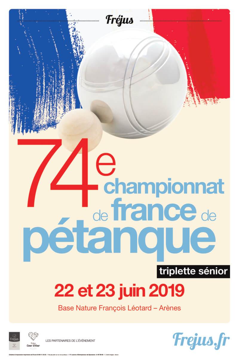 """Championnats de France """"triplettes séniors """" de Pétanque"""